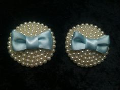 Something Blue Pearl Bridal Nipple Pasties with Bows. $60.00, via Etsy.