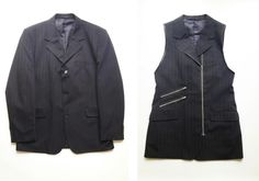 Clever upcycling, mens suit jacket to ladies vest. You will need to use Google translate on the instructions.