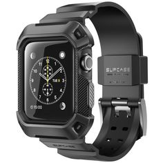 Apple Watch 42 mm + Supcase Rugged Protective Case with Wristband - Black