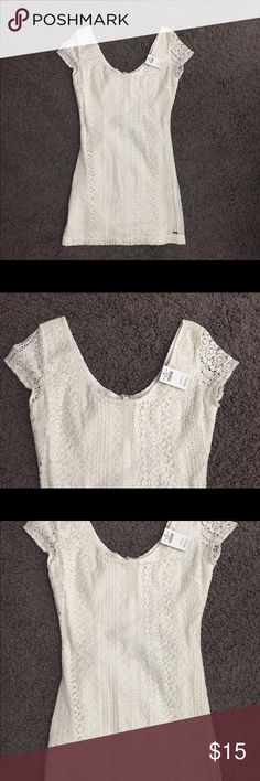 Hollister Bodycon Dress White Bodycon Skater Dress from Hollister. Never worn with tags. Open to offers! Hollister Dresses