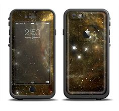 The Glowing Gold Universe Apple iPhone 6/6s Plus LifeProof Fre Case Skin Set from DesignSkinz