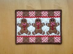 Gingerbread men Mug rug