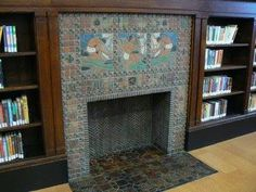 Fireplace at the St. Louis Public Library