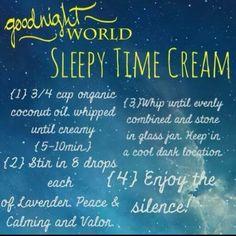 Sleepy time cream