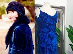 Royal Blue Dresses, Prom Dresses Blue, Ball Dresses, 1920s Fashion Dresses, 1930s Style, Blue Velvet Dress, Bias Cut Dress, Cowl Neck Dress, Vintage Velvet