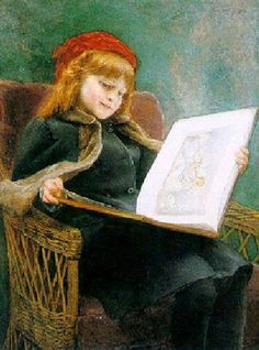 (girl reading) by Constant Mayer