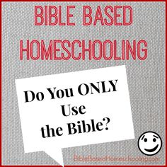 Do We ONLY Use the Bible?