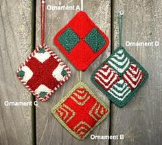 Ravelry: Polar Bear Express - Mitered Square Ornaments pattern by Tess Mattos