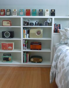 vintage radios and cameras.....seriously awesome!!!! Beats ANY decor from any store!