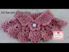 Cuello Tejido a CrocheT para niña - YouTube
