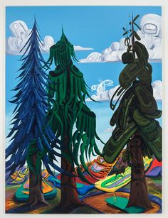 "Lawrence Paul Yuxweluptun, ""Indian World My Home and Native Land"""