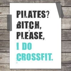 Funny Large 11X14 Workout Quote Poster Print with by EcoPrint, $26.00