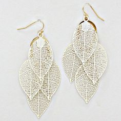 Laser Cut Folio Chandelier Earrings