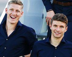 Bastian Schweinsteiger & Thomas Mueller