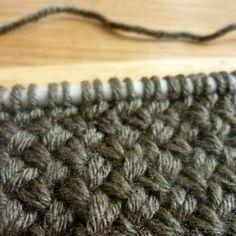 comment tricoter le point de vannerie