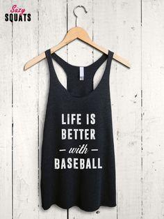 Funny Baseball Shirt - baseball lover gifts, baseball mom shirt, baseball tank top, baseball mum shirt, baseball mom tank top, baseball fan by SuzySquats on Etsy https://www.etsy.com/listing/270981024/funny-baseball-shirt-baseball-lover