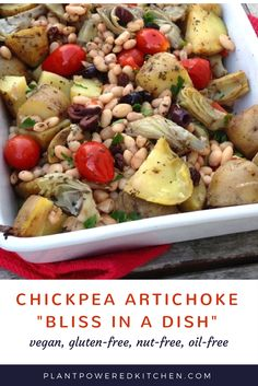 Chickpea and Artichoke Bliss in a Dish