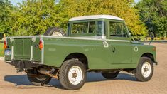 Auction Lot Schaumburg, IL Professional frame-up restoration 800 miles on new engine. Owner's, restoration and repair manuals included Land Rover Pick Up, Land Rover Series 3, Old Pickup, New Engine, Truck Bed, Land Rover Defender, Repair Manuals, Land Cruiser, Military Vehicles