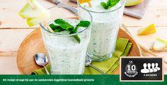 Meloen smoothie met Griekse yoghurt en munt
