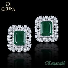 Get the natural touch of true elegance with these stunning jewellery pieces embellished with precious emeralds. #Emeralds #Earrings #Diamonds #Jewellery #Shining #Stunning #Pretty