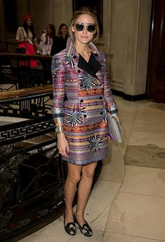 Olivia Palermo at Matthew Williamson in London. http://www.vogue.in/content/star-spotting-at-aw-fashion-weeks
