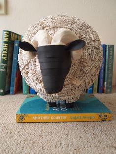 Sheep - paper mache sculpture - Janaki Lele