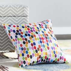 Found it at AllModern - Jaden Christopher Syre Dots Throw Pillow