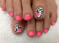 Some Easy Toenail Art Designs Mixed colors toenail art design Moon toenail art ideas Simple toenail art ideas French toenail art design Lazy girl toenail art ideas