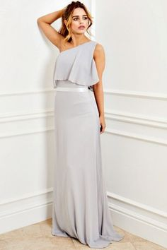 Buy Sistaglam Frill Hem Maxi Dress from the Next UK online shop Robes D'occasion, Grey Maxi, Evening Dresses, Formal Dresses, Going Out Dresses, Next Uk, Uk Online, Special Occasion Dresses, No Frills