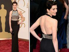 Anne Hathaway - Vestidos do Oscar 2014 http://vilamulher.com.br/moda/estilo-e-tendencias/os-vestidos-do-oscar-2014-14-1-32-2872.html?origem=pinterest