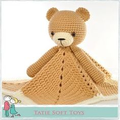 Ravelry: Lovey Blanket Bear Security Blanket Teddy, free #crochet pattern by Tatie, amigurumi, #haken, gratis patroon (Engels), beer tutteldoekje, kraamcadeau, #haakpatroon
