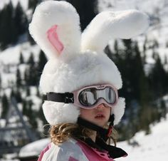 where was this when we lived in chicago? so cute! rabbit helmet cover