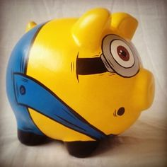 Imagen relacionada Paper Mache Projects, Money Bank, This Little Piggy, Art N Craft, Ideas Para Fiestas, Nerd Geek, Pottery Painting, Piggy Bank, Artsy Fartsy