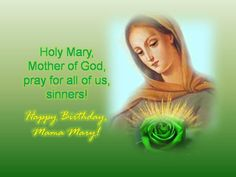 8 Best Happy Birthday Mama Mary Images Bible Verses Dios Prayers