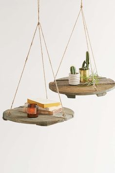 Round Reclaimed Wood Floating Shelf - Urban Outfitters