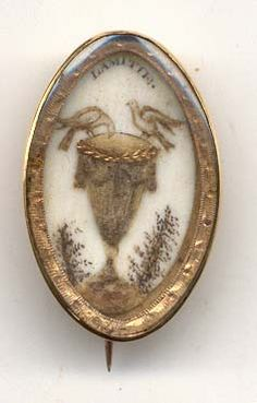 """Friendship"" memorial brooch...nice example of hairwork picture on ivory....Circa 1780-1800"
