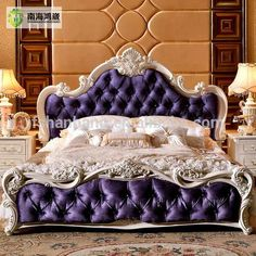 Source Luxury Classic King Size Wood MDF Royal French Style Barocco Bedroom Furniture Set on m. Luxury Bedroom Sets, Luxurious Bedrooms, Luxury Bedding, Stylish Bedroom, Furniture Market, Bed Furniture, Luxury Furniture, Furniture Removal, Cheap Furniture