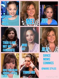 Dance moms commics by @marie styles- keep that on there