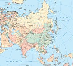 Mapa Políticoterritorial de Ásia