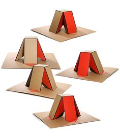 2m2 is a stool made of 2 square meter sheets of cardboard and is folded together like origami.