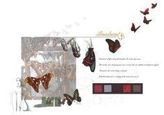 Translucent B Concept Board #alotlikeamy #designportfolio #fashiondesign #cad #illustration