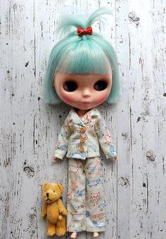 Blythe Doll Winter Woodland PJs