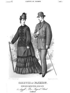 "October 1873 Gazette of Fashion. A new style of Norfolk jacket, which is ""an improvement on the shape which has been in use for some time."" In particular, the front plait does not extend beyond the waist, and the back is entirely different.  Pattern in July 1873 issue."