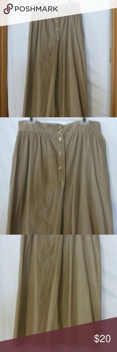 "Lands end women plus size 18 corduroy skirt Barely worn, tan, lined, button front, two front pockets, cotton, dry clean, waist 35"", length 33"", gathered waist Lands' End Skirts"