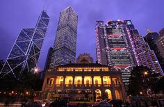 Futuristic and Colonial Architecture, Hong Kong