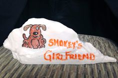 Who knew Smokey had a girlfriend? It was important enough to us to Write it on the Rock. The UT Dry Erase Rock by College Replicas. What's on Your Rock?