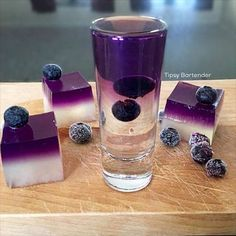 Purple Nurple Shot - For more delicious recipes and drinks, visit us here: www.tipsybartender.com
