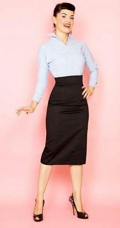 94a342261 Las 70 mejores imágenes de faldas talle alto en 2014   Ropa informal ...