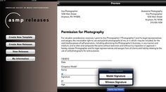 ASMP Releases is a free model and property release app for iOS by the American Society of Media Photographers. Quite useful for if you'd like to use your street photographs commercially.Photograph...
