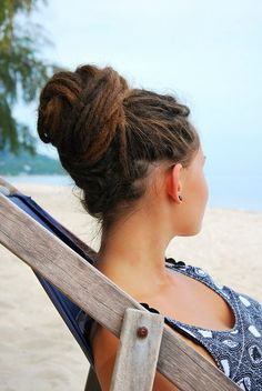love the dread bun